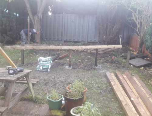 Landscaping Adventures – Turning a sloped garden into a useable space.